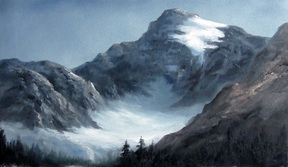 Mountain painting oil