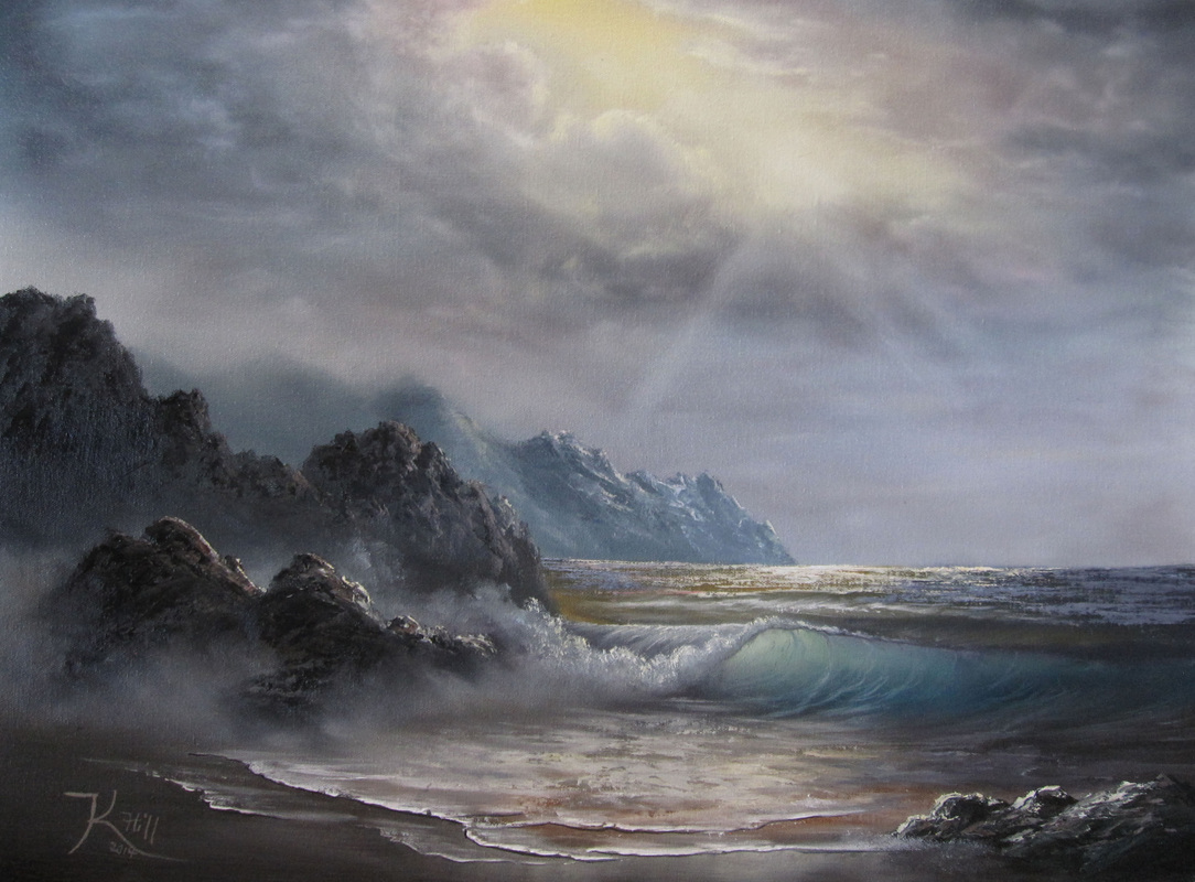 seascape painting by kevin hill