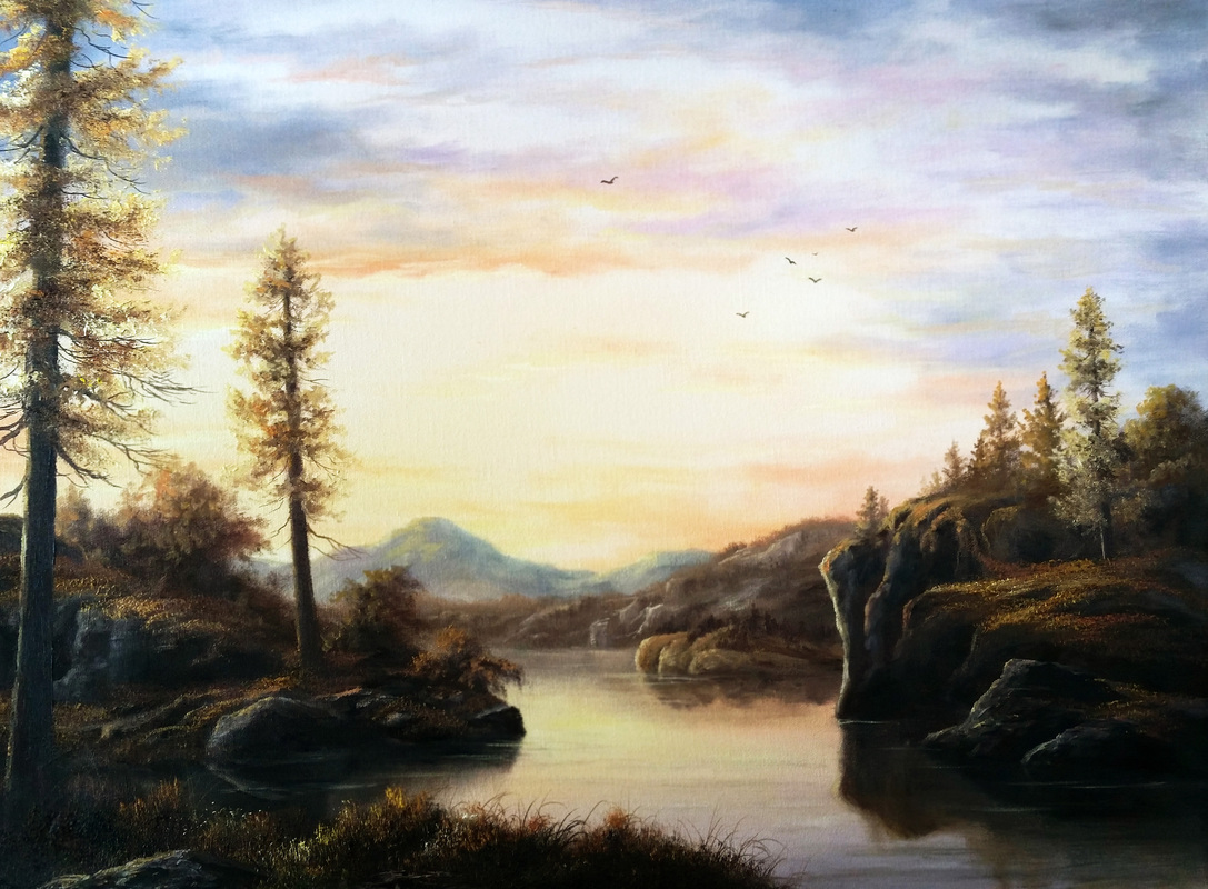 autumn painting Kevin Hill