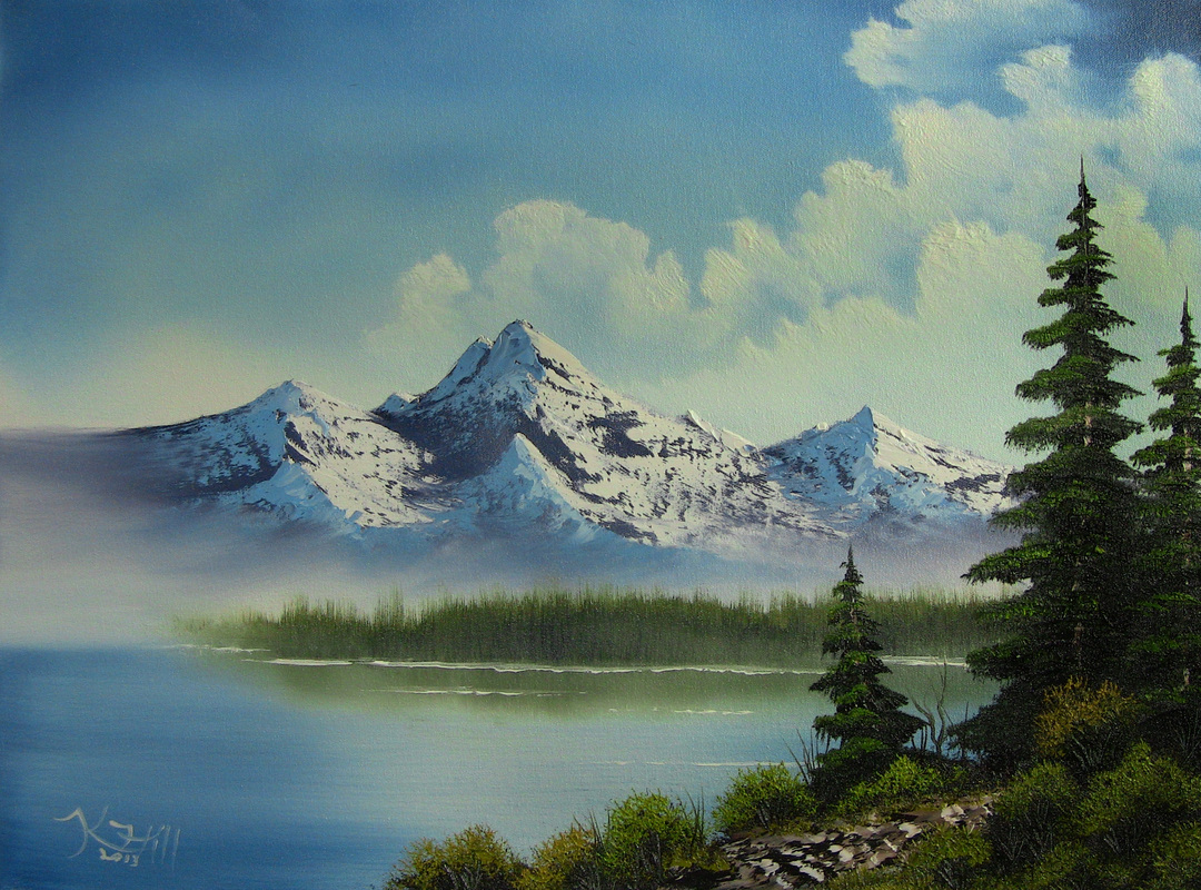 landscape oil painting - Paint with Kevin