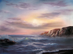Kevin Hill painting seascape
