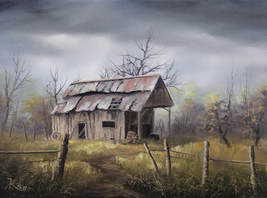 How to paint a barn in oil