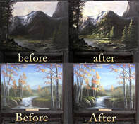 Highlighting a landscape painting