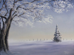 winter landscape painting trees