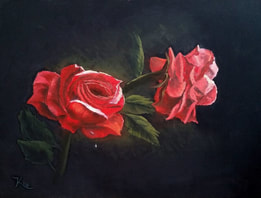 Floral Rose Painting in oil