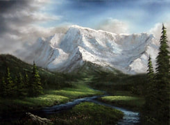 mountain painting kevin hill
