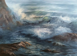 Seascape painting in oils