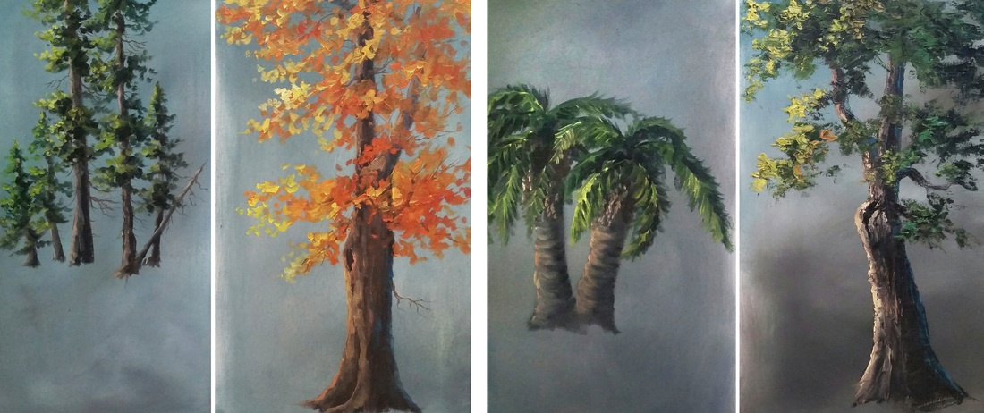 Kevin Hill oil painting trees